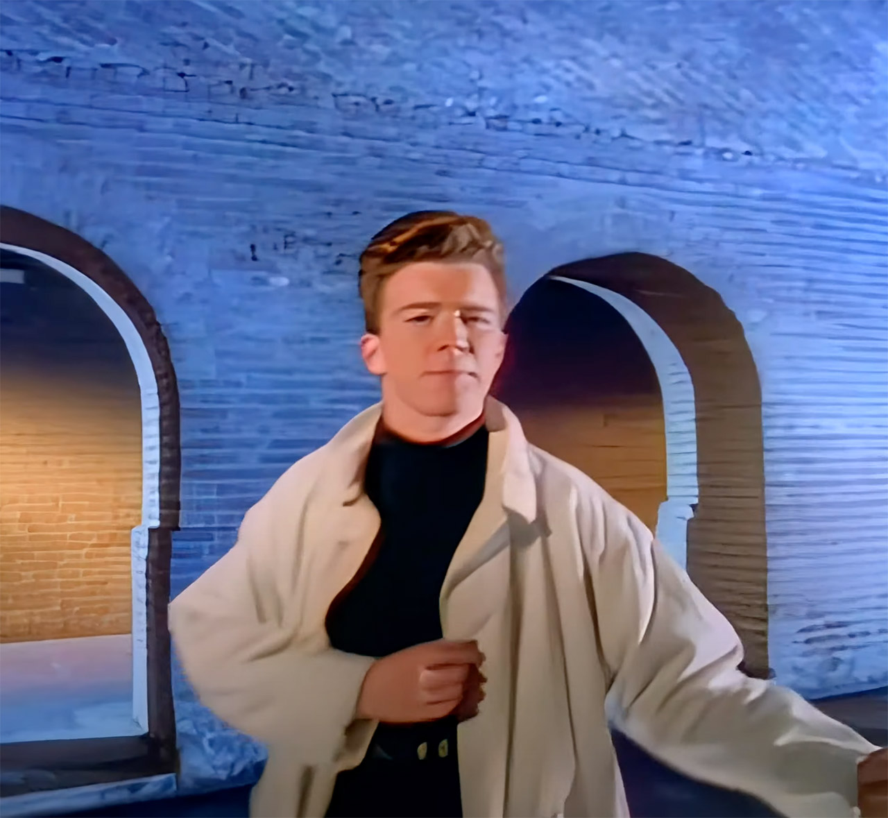 Rick Astley Never Gonna Give You Up AI 4K Remaster