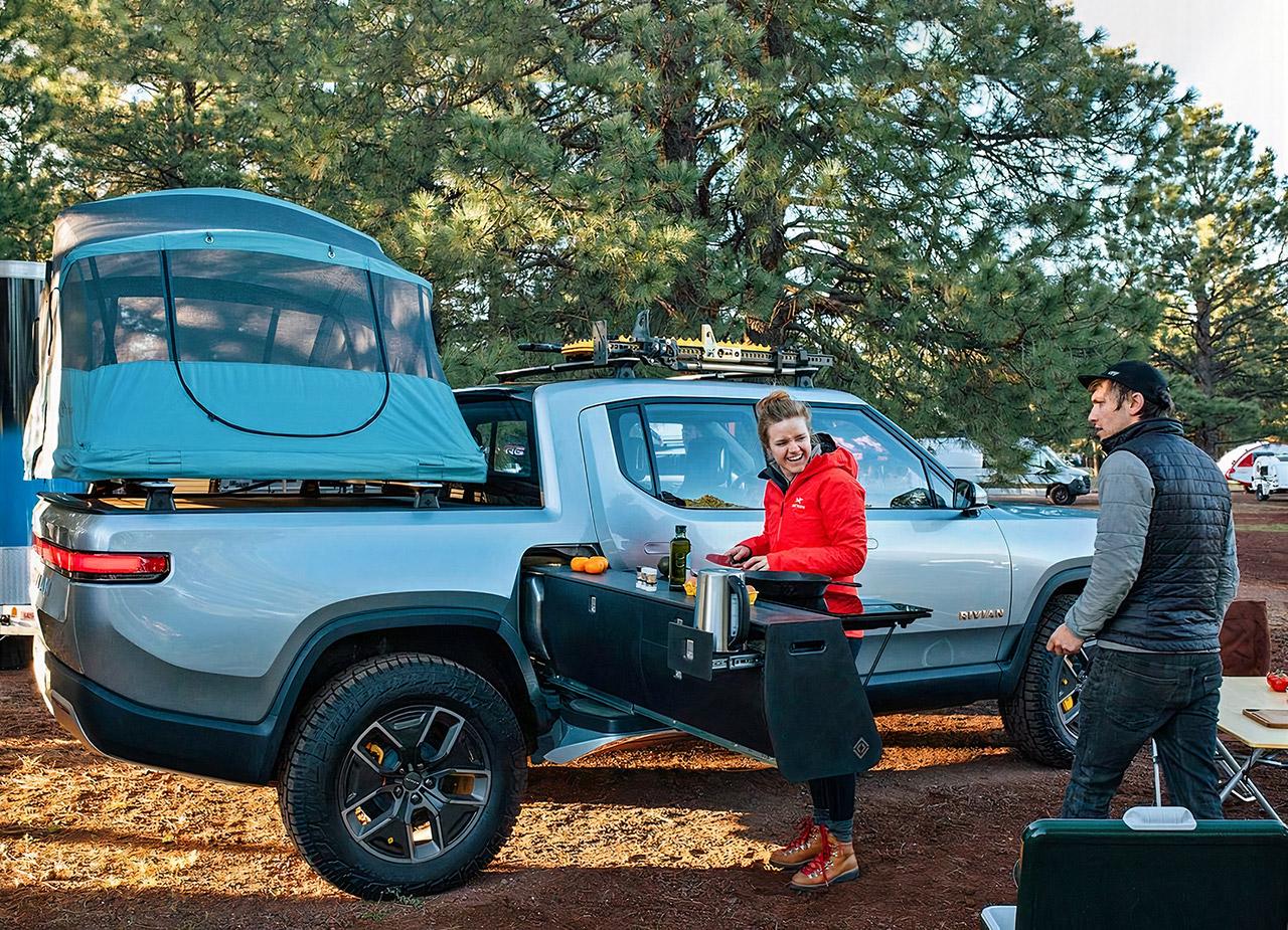 Rivian R1T Electric Pickup Truck Camp Kitchen