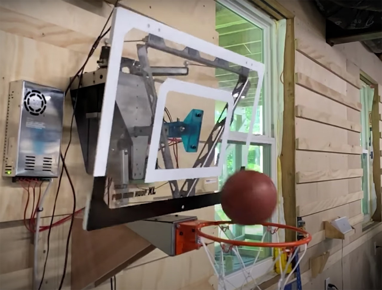 Robotic Basketball Hoop Can't Miss