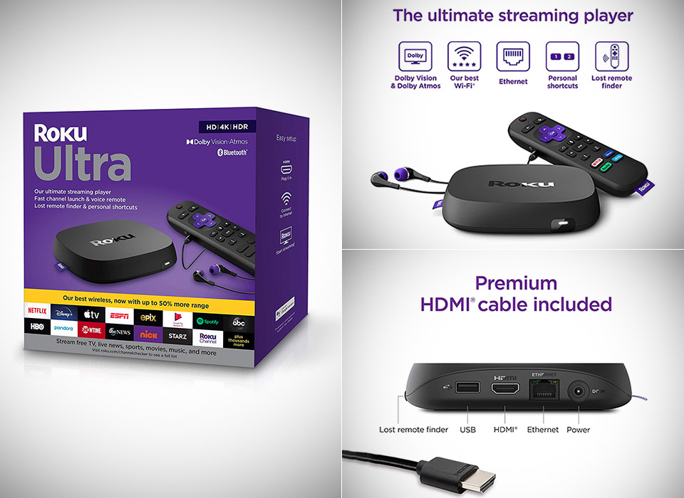 Roku Ultra 2020 Streaming Media Player