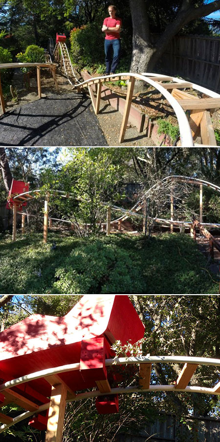 Backyard Roller Coaster Plans :  Building Functional Roller Coaster in Backyard for Sons  TechEBlog