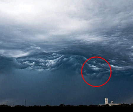 Rolling Cloud Formations