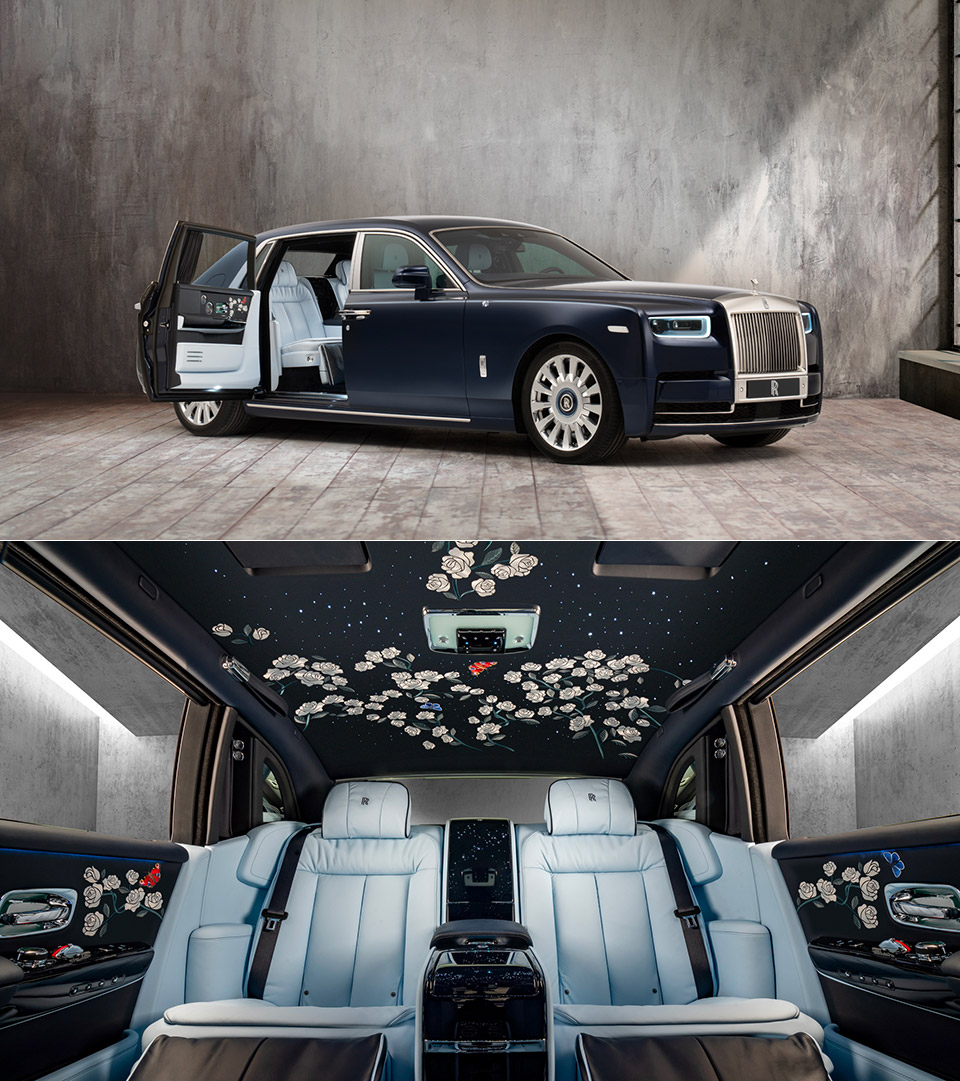 Rolls-Royce Bespoke Collective Rose Phantom
