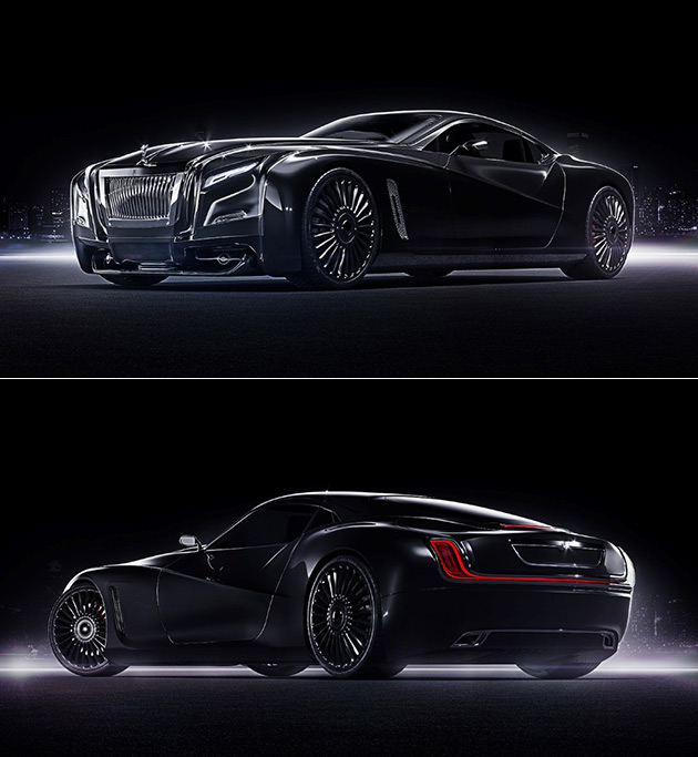 Supercar Duo Luxurycorp Rollsroyce: Stealthy Rolls-Royce Coupe Concept Is What Happens When
