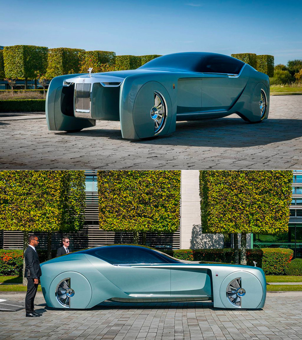 Rolls Royce 103ex An All Electric Car From The Year 2035 Returns To England Techeblog