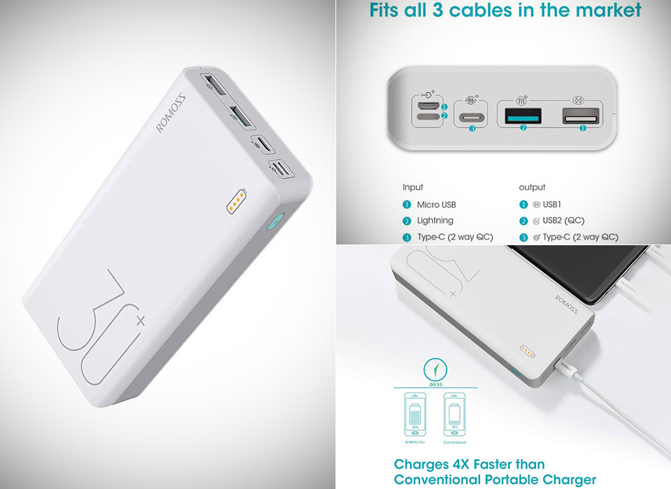 Romoss 30000mAh Sense 8+ Power Bank