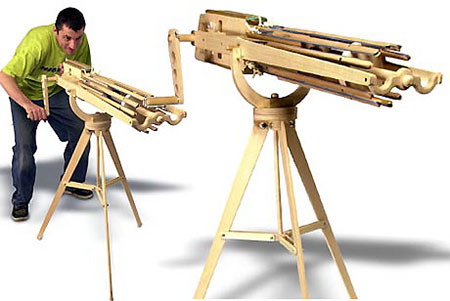 how to make a lego rubber band machine gun