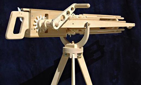 Feature Gatling Rubber Band Guns Made From Wood Techeblog