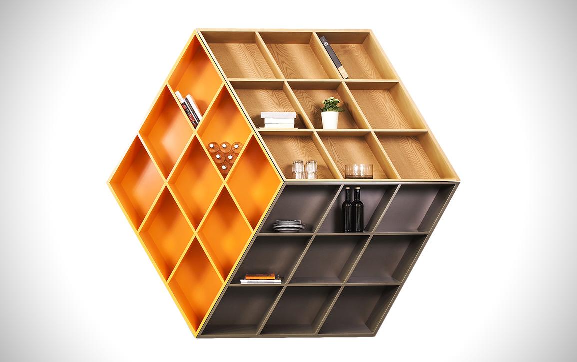 Rubika Rubik's Cube Bookcase