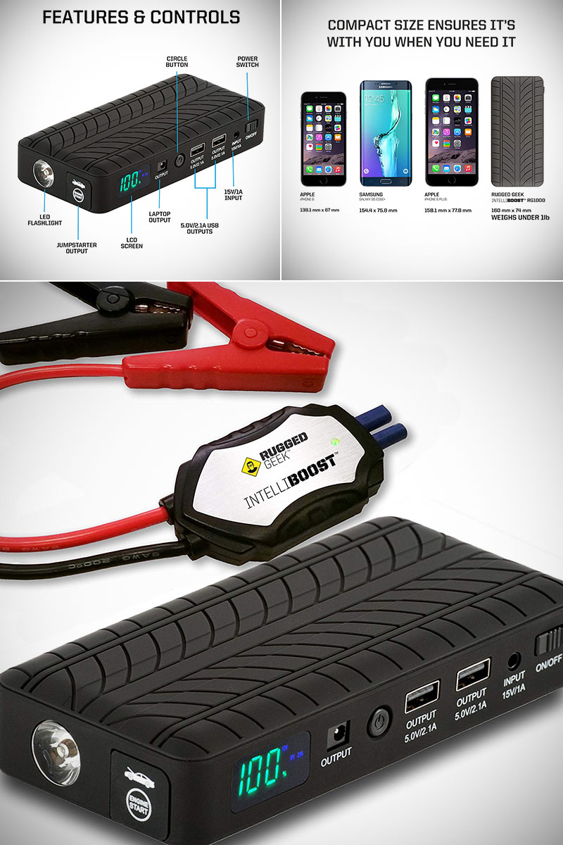 Rugged Geek RG1000 Portable Car Jump Starter