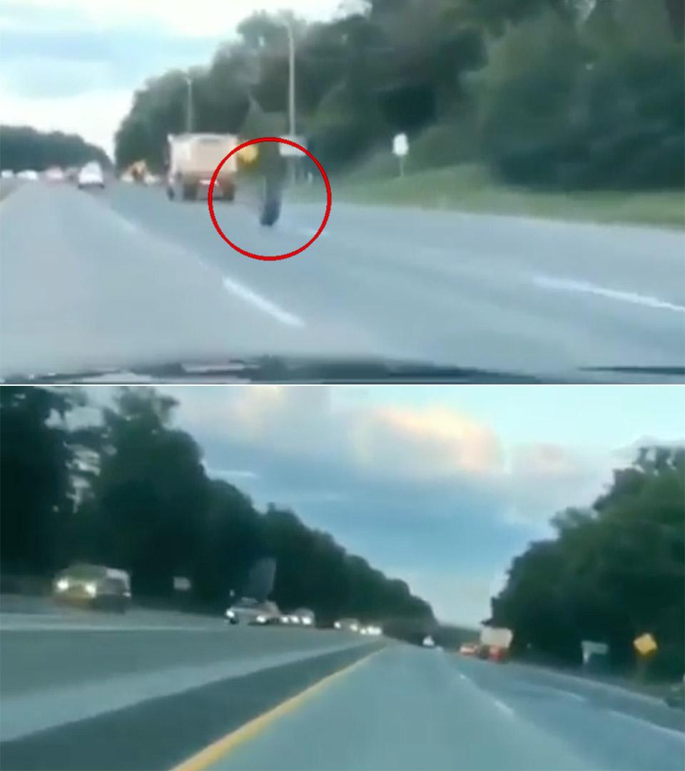 Runaway Tire Jeep Crash New Jersey