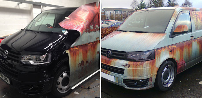 Rust Car Wrap