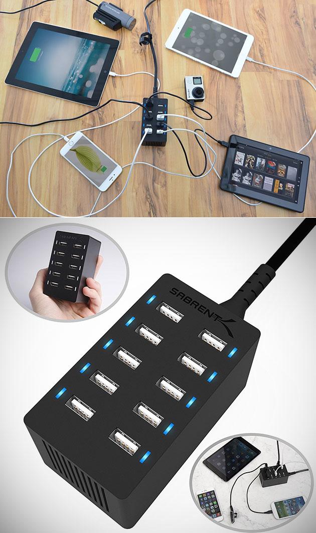 Sabrent 10-Port USB Charger