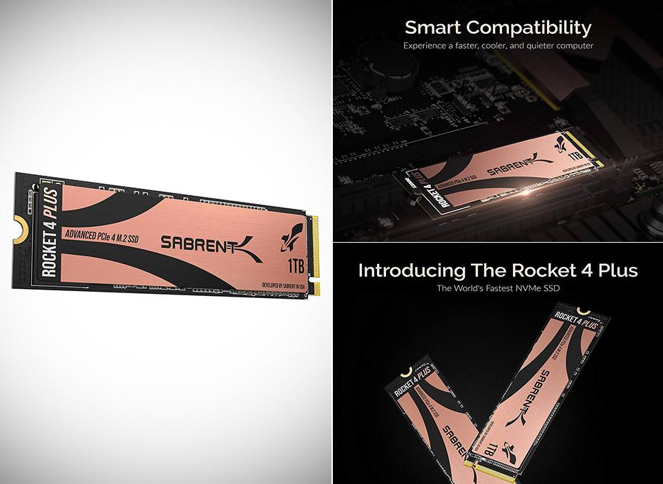 Sabrent Rocket 4 Plus 1TB NVMe 4.0 Gen4 PCIe M.2 Internal SSD