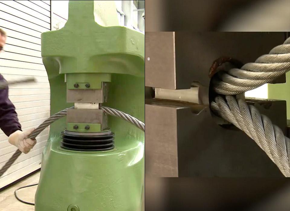 SAHM Splice Swaging Machine Steel Rope