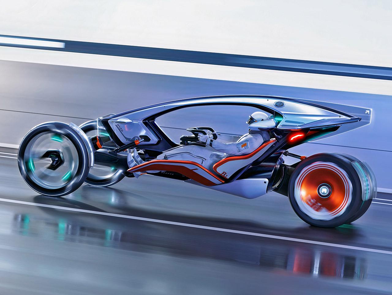 SAIC Design R-RYZR Electric Motorcycle Car