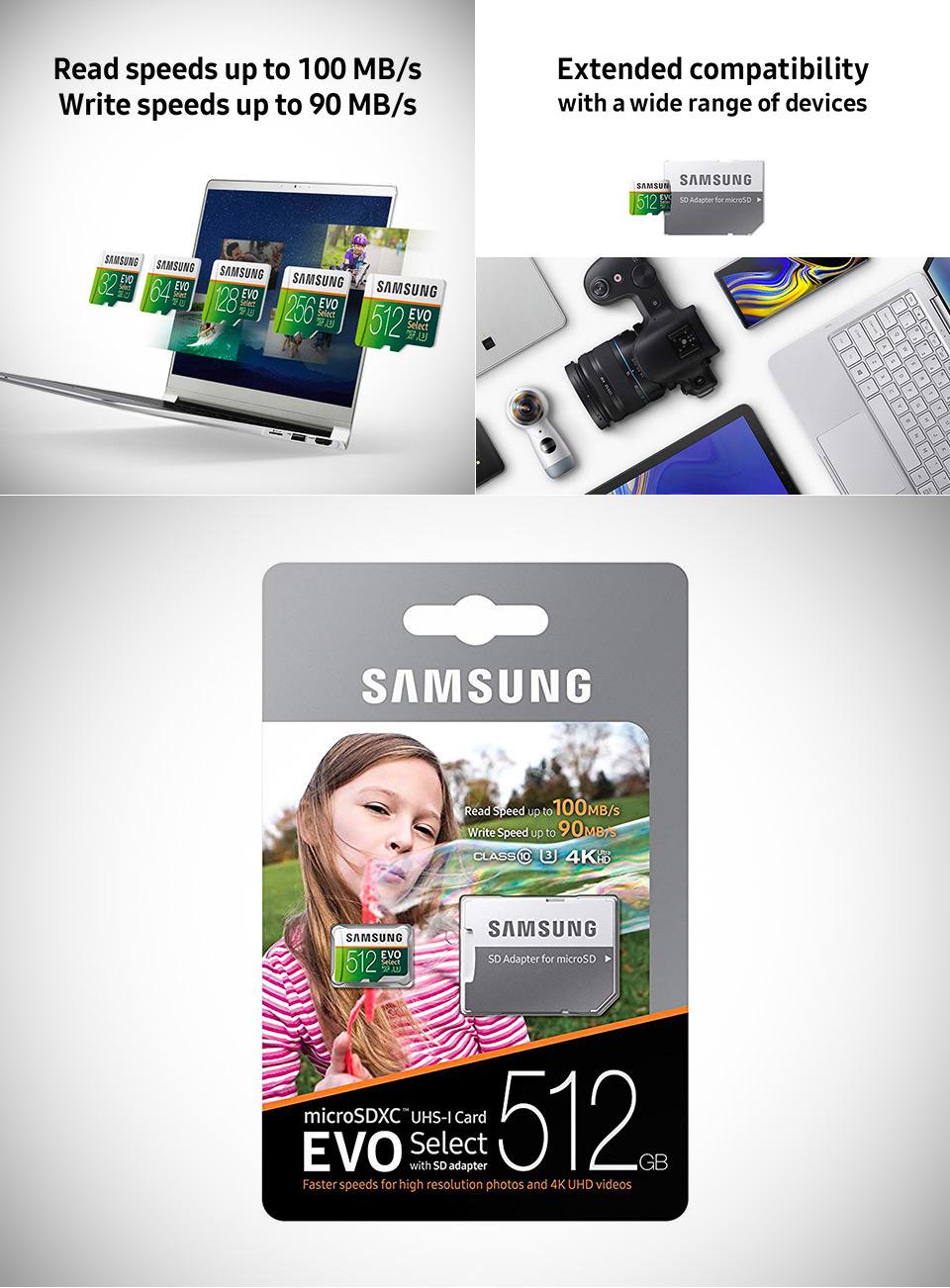 Samsung 512GB EVO Select microSD