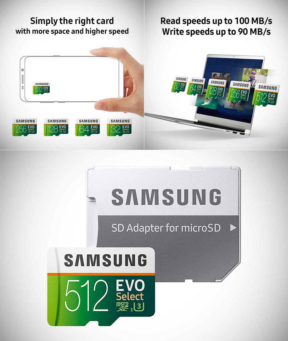 Samsung 512GB MicroSDXC EVO Select
