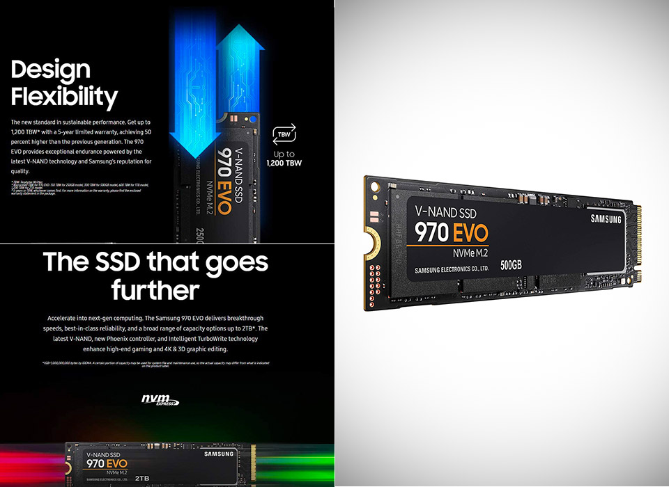 Samsung 970 EVO SSD 500GB M.2 NVMe