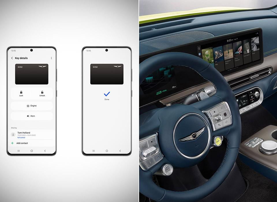 Samsung Digital Key Car Genesis GV60 Hyundai