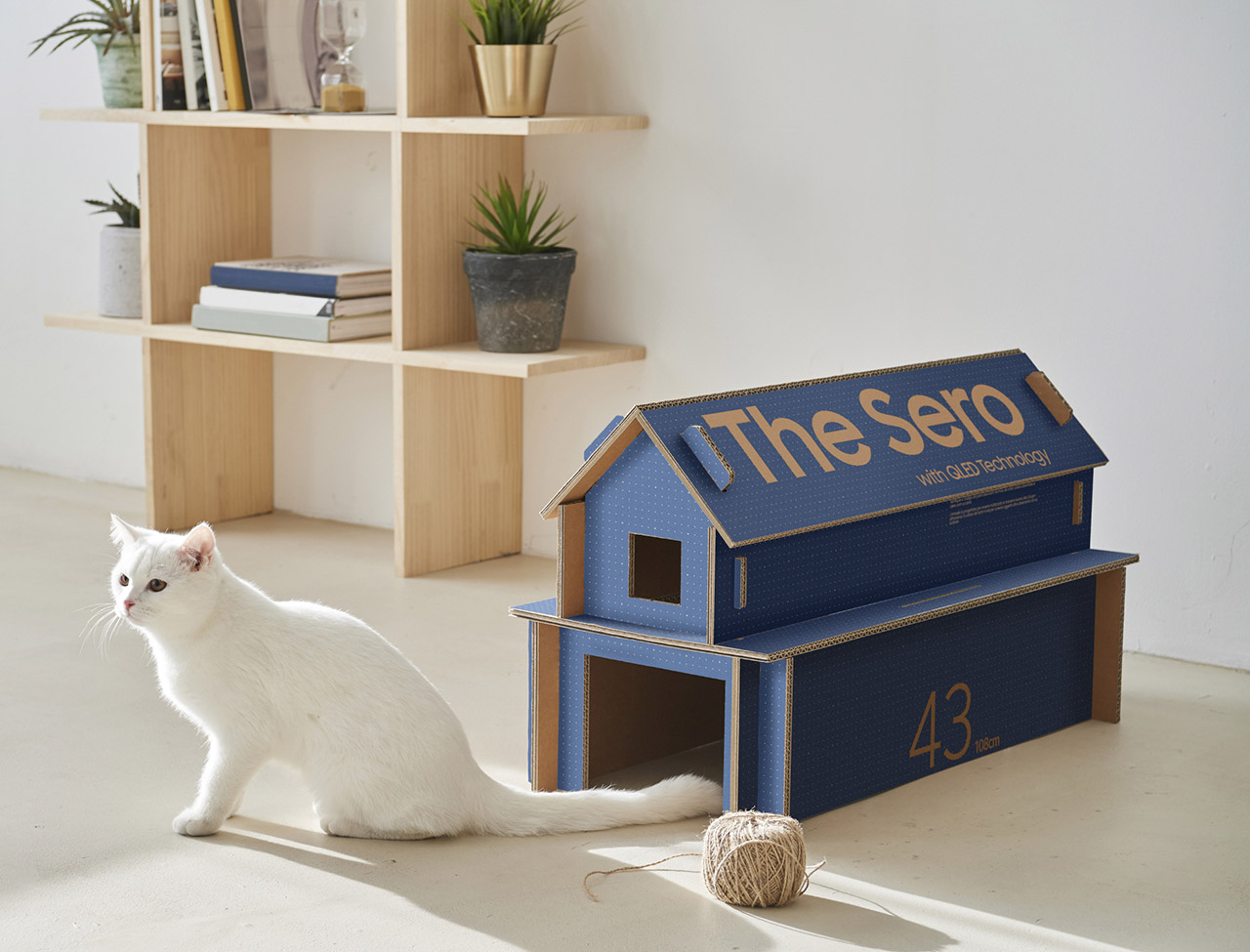 Samsung ECO-Packaging TV Cat House
