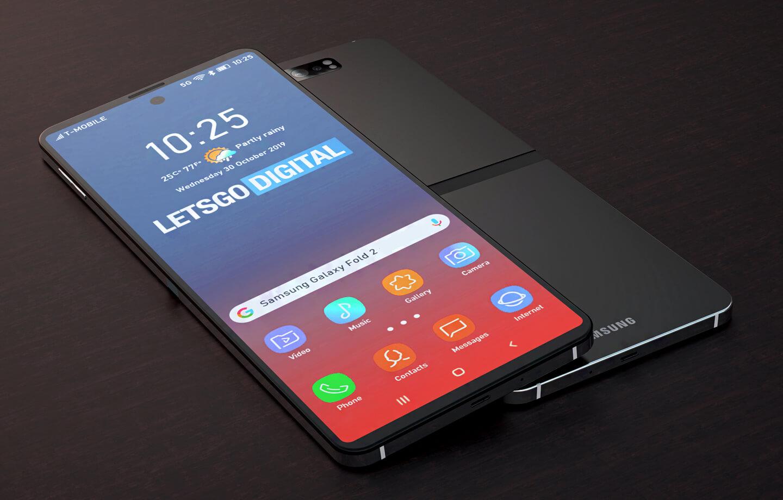 Samsung Foldable Smartphone Hidden Hinge