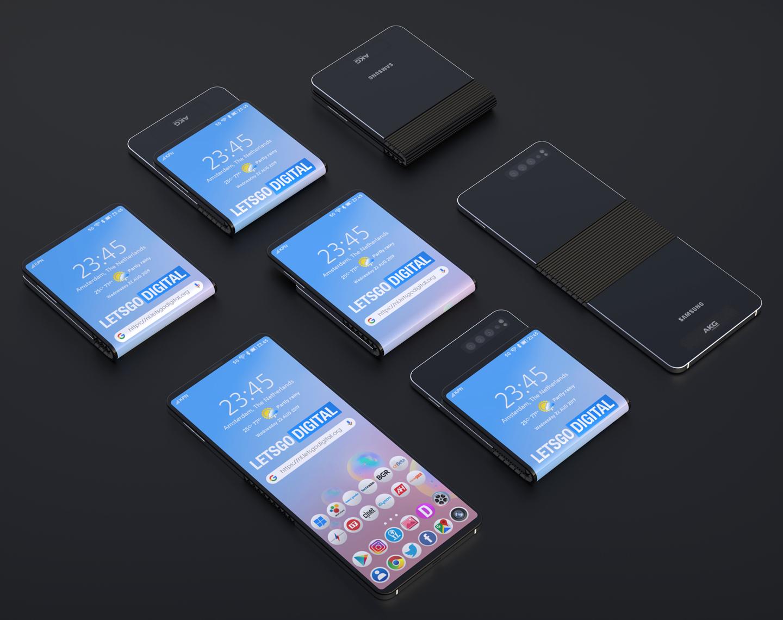 Samsung Foldable Smartphone Sliding Mechanism