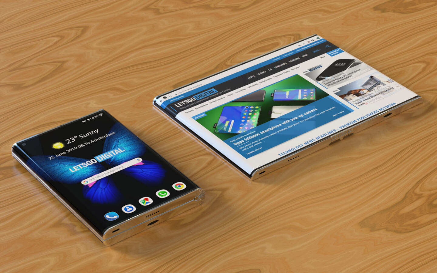 Samsung Folding Phone Edge-to-Edge Display