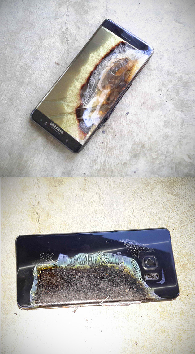 Galaxy Note S7 Explodes