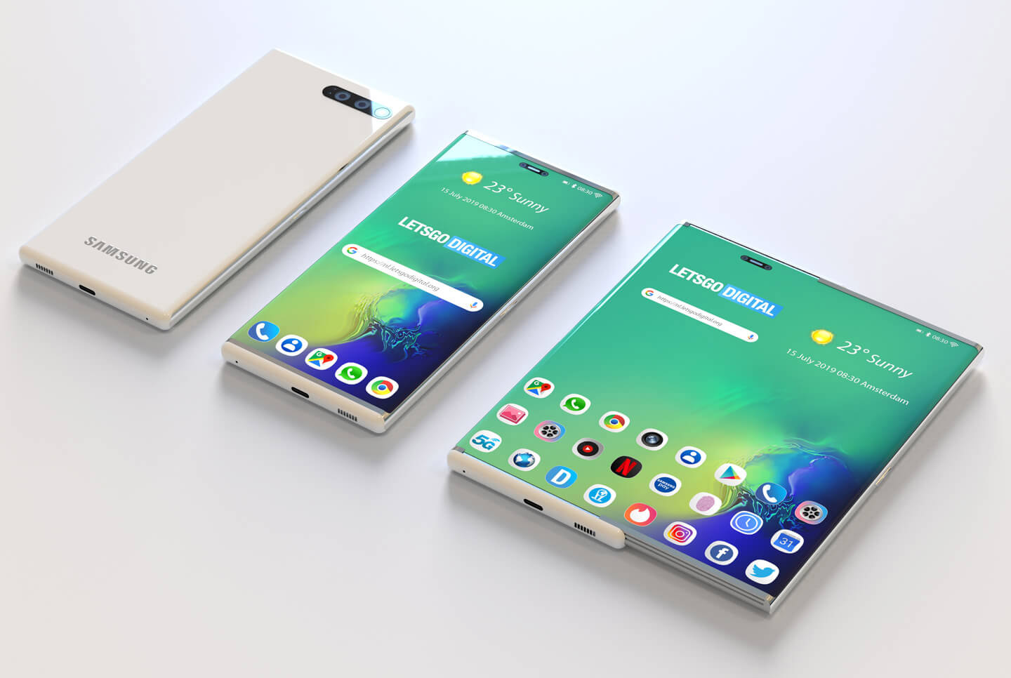 Samsung Galaxy S11 Leak Expandable Display
