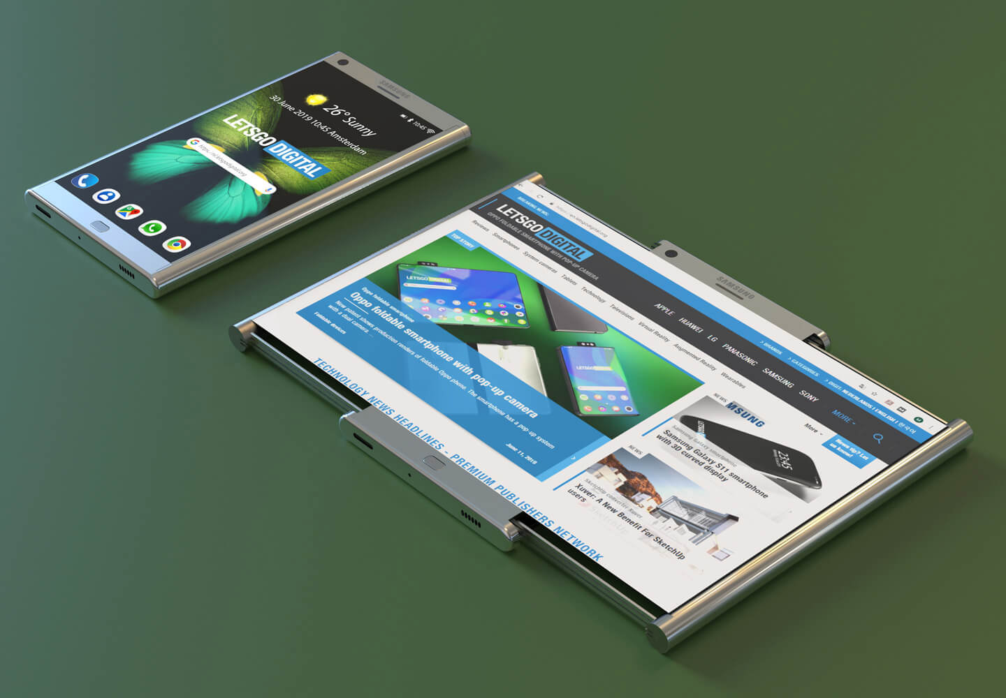 Samsung Smartphone Expandable Display