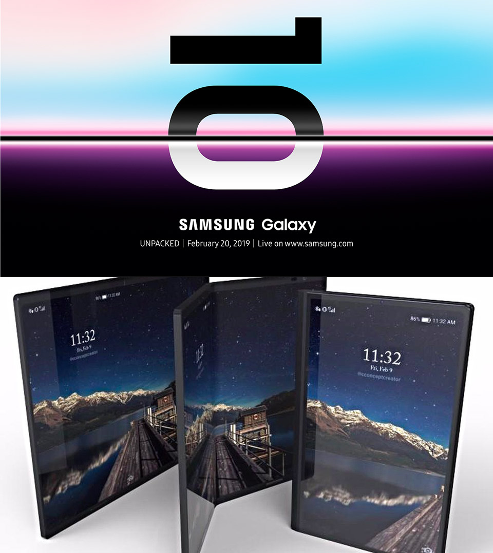 Samsung Galaxy Unpacked Foldable Phone