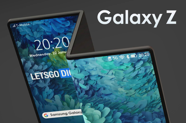 Samsung Galaxy Z Folding Smartphone