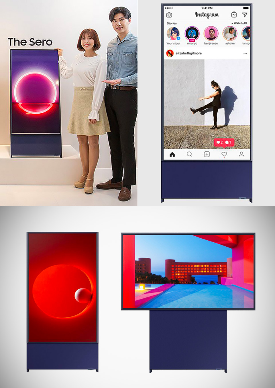Samsung Sero Vertical TV