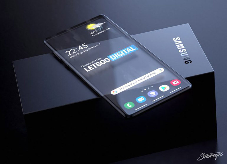 Samsung Transparent Galaxy Smartphone