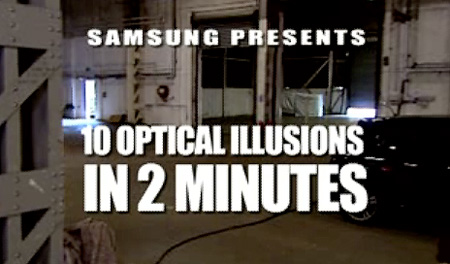 Samsung Optical Illusions Commercial