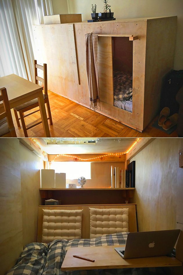 Man avoids paying high rent in san francisco by living in this 400 per month pod techeblog How much is a one bedroom apartment in san francisco