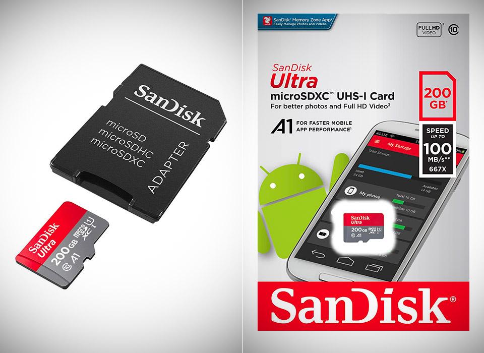 SanDisk 200GB Ultra MicroSDXC