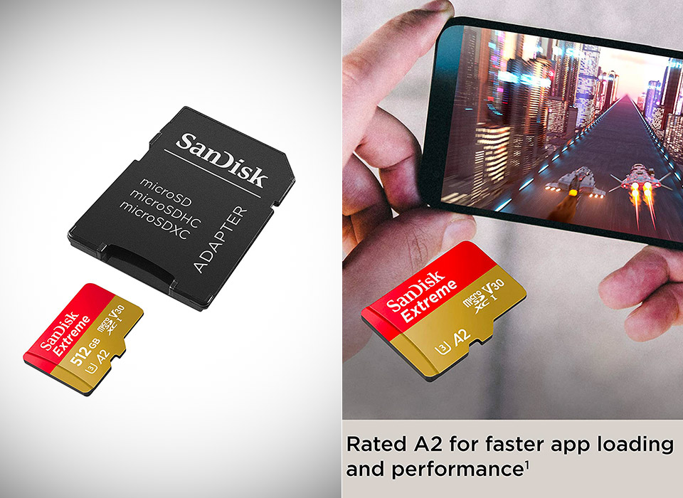 SanDisk 512GB Extreme microSD with Adapter