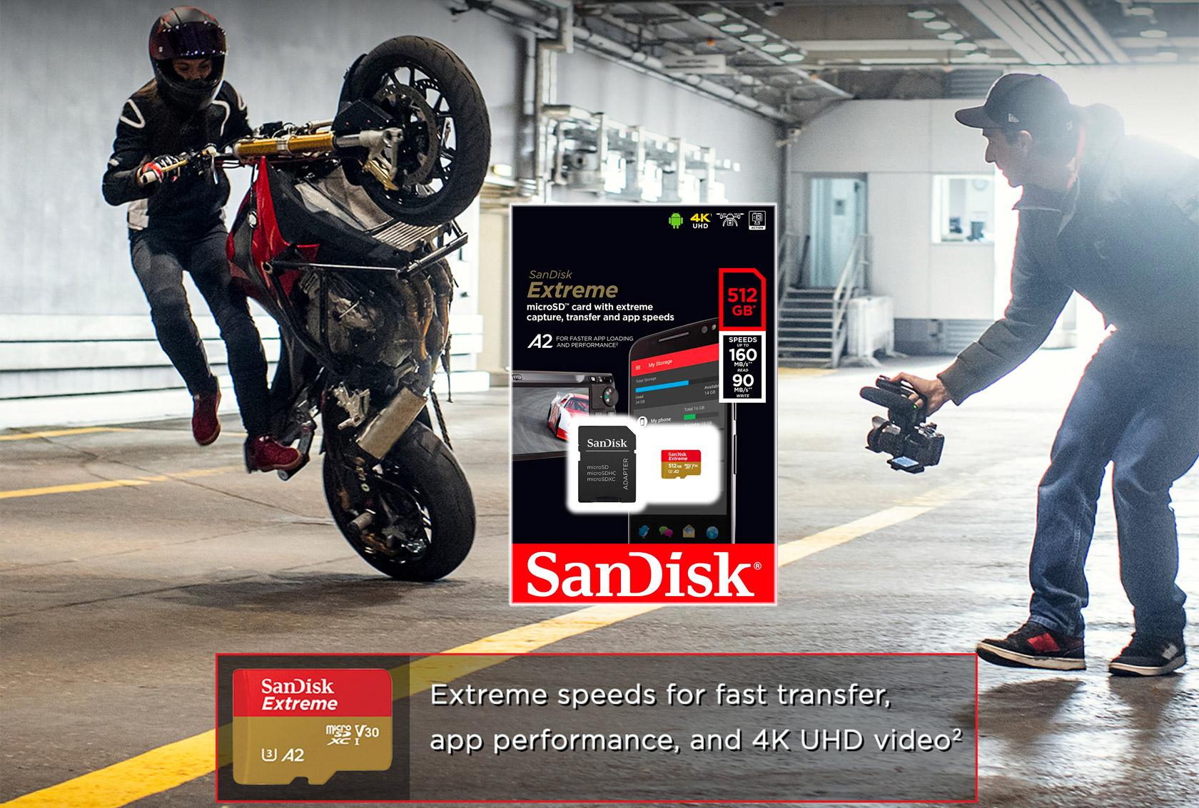 SanDisk 512GB Extreme MicroSD