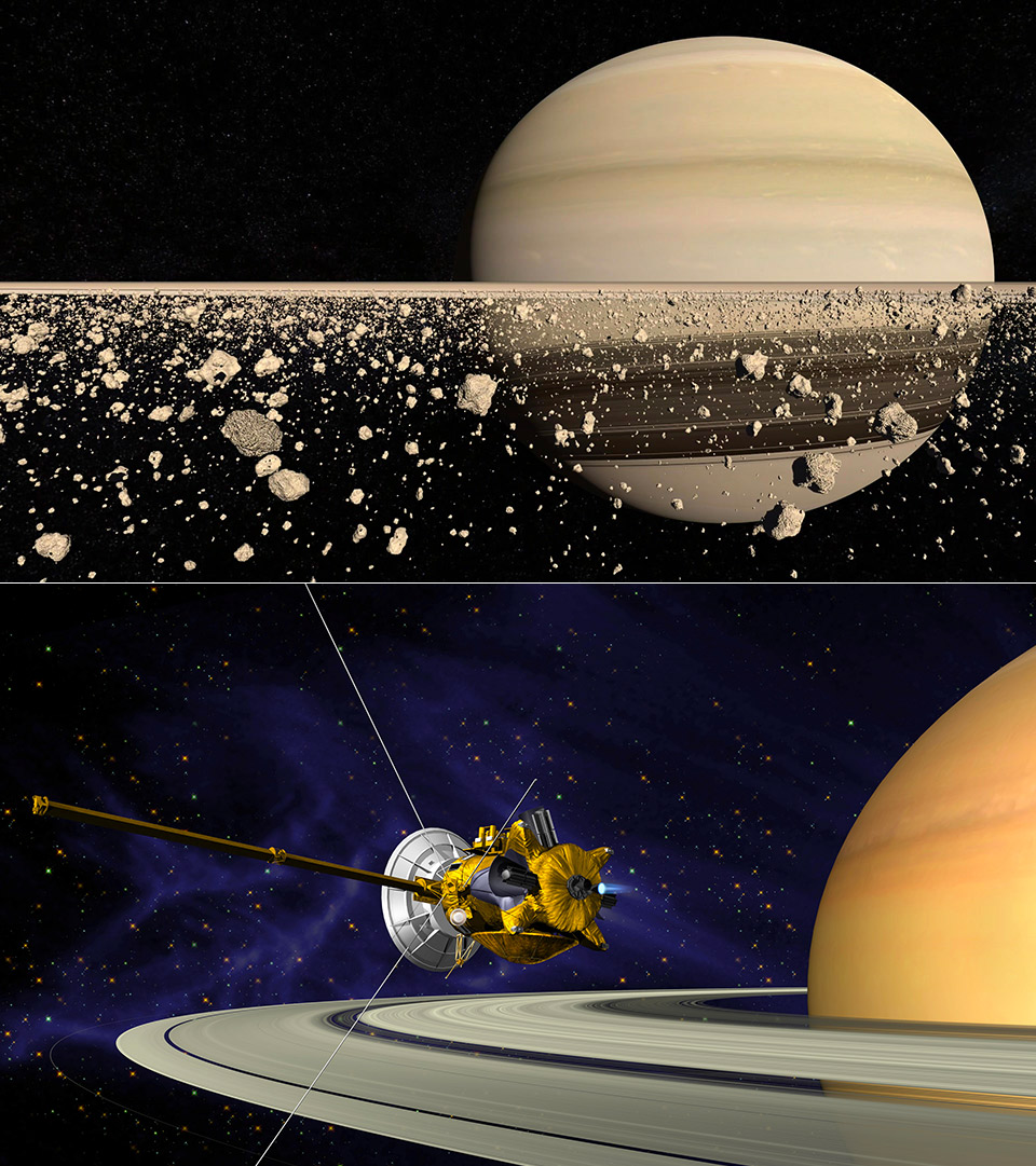 Saturn Ring System Cassini-Huygens