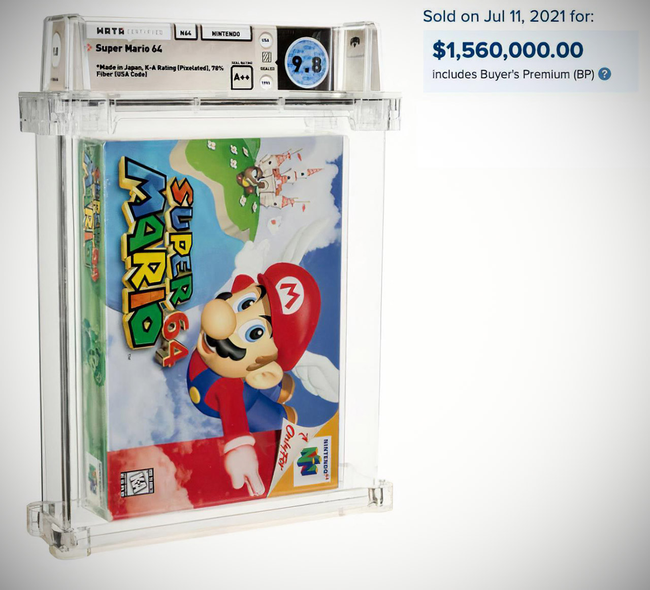 Sealed Super Mario 64 Game Most Expensive