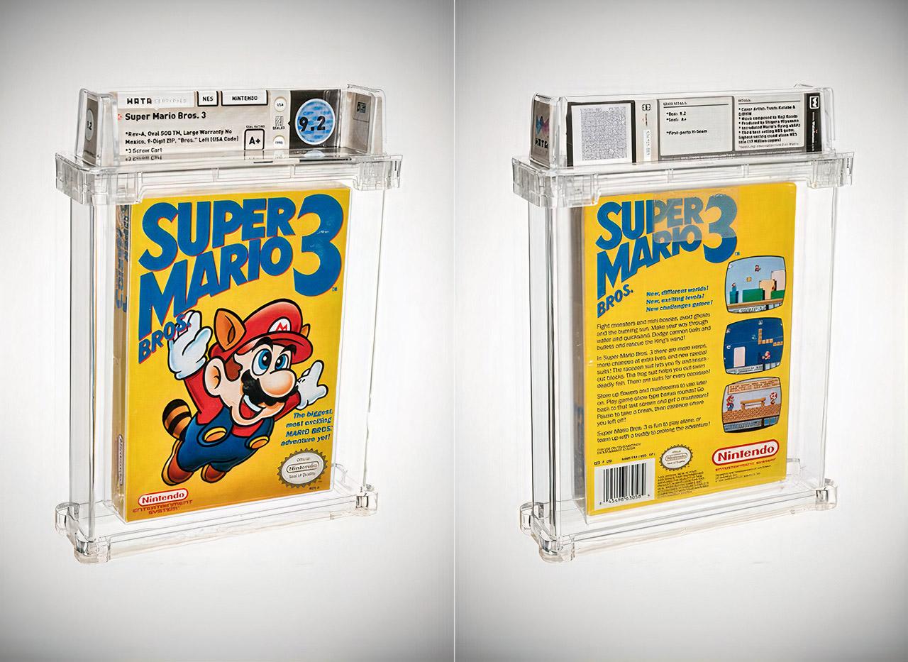 Sealed Super Mario Bros. 3 Game Auction