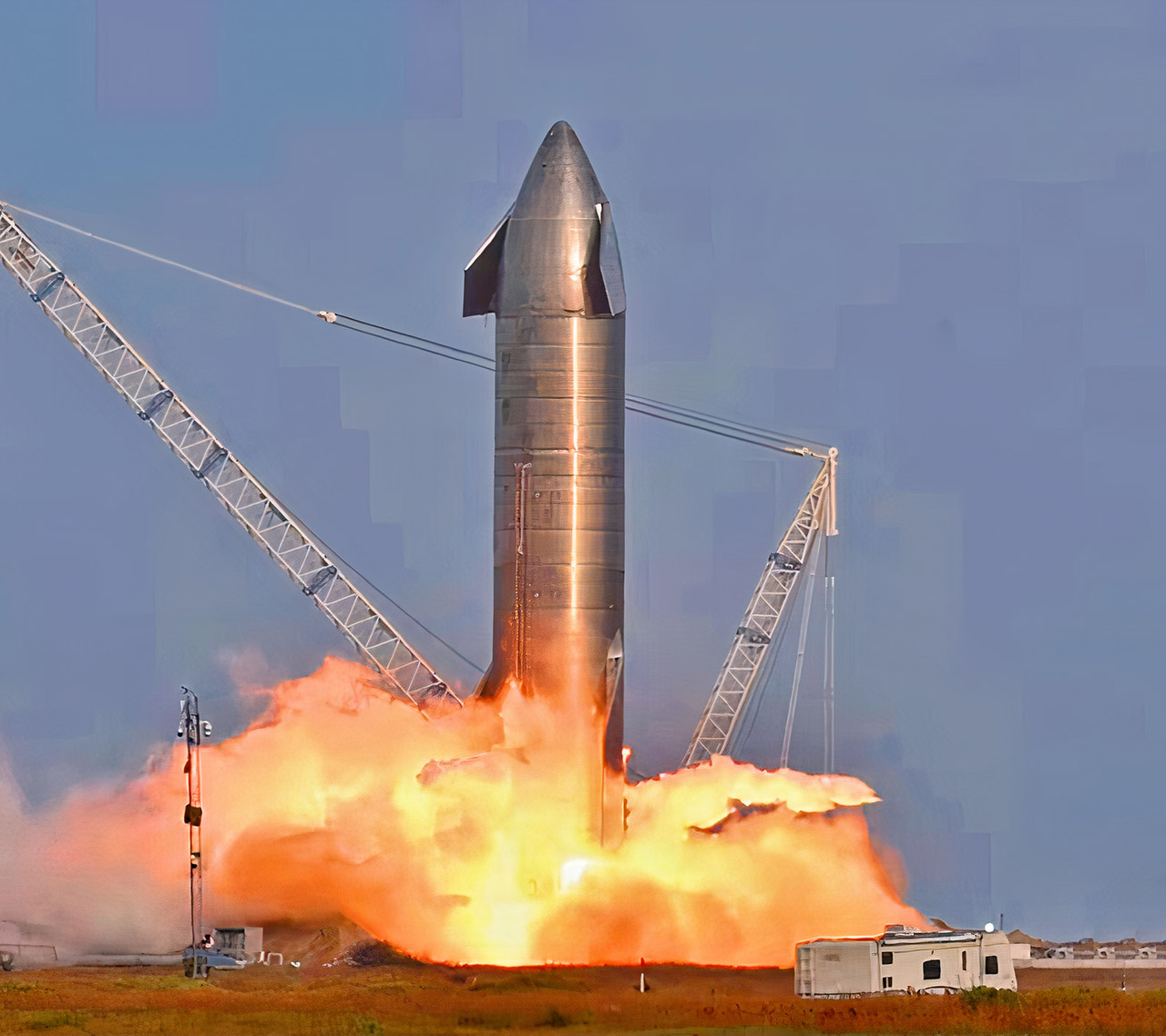 Second SpaceX Starship SN9 Flight Test