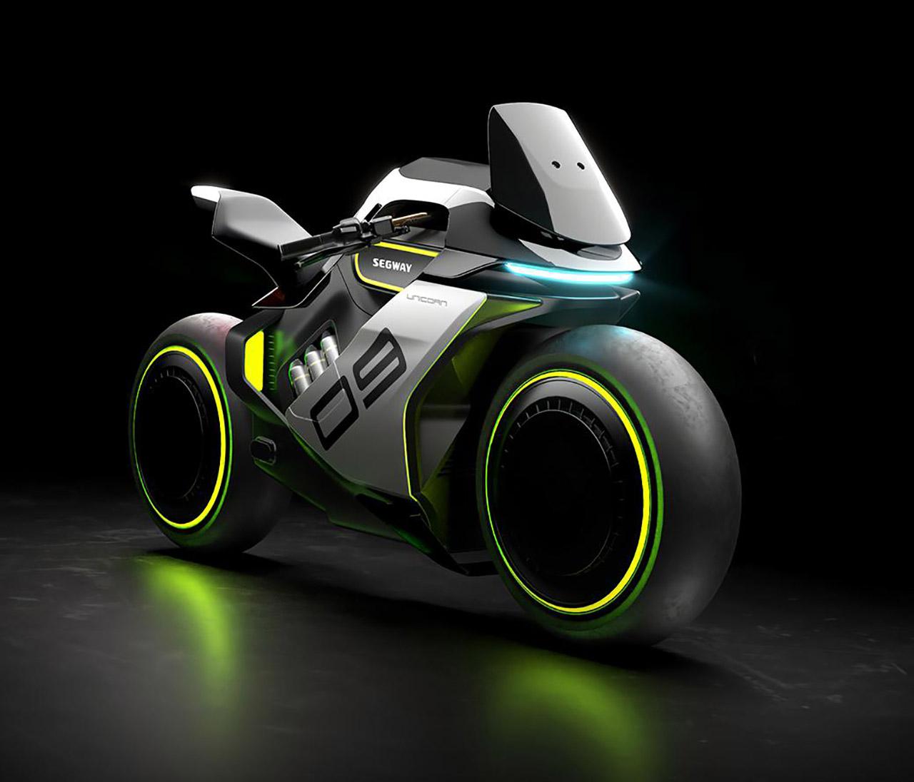 Segway Apex H2 Hydrogen Electric Hybrid Motorcycle