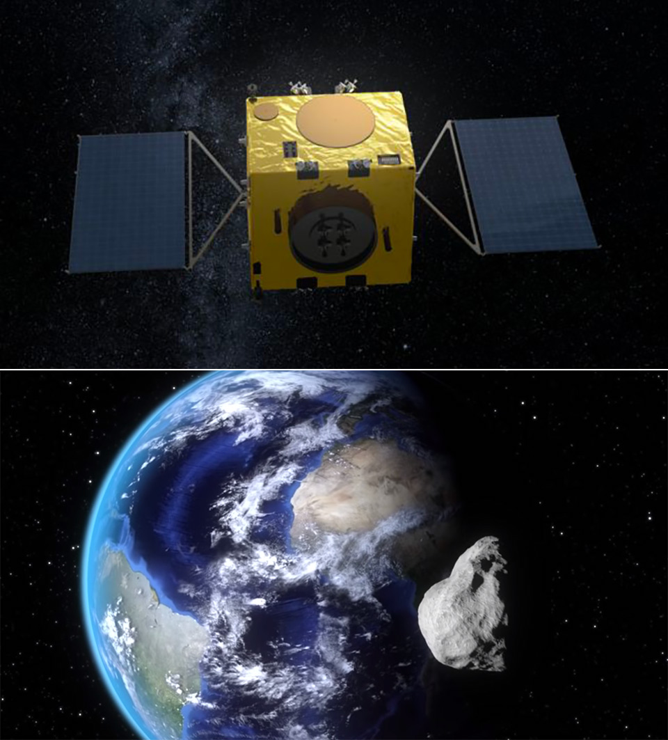 Self-Driving Spacecraft Asteroid