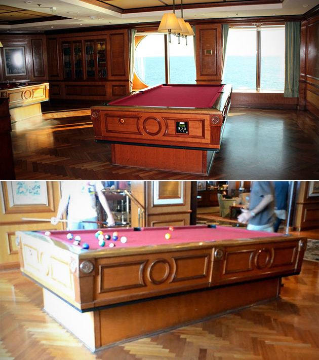 Self-Leveling Pool Table