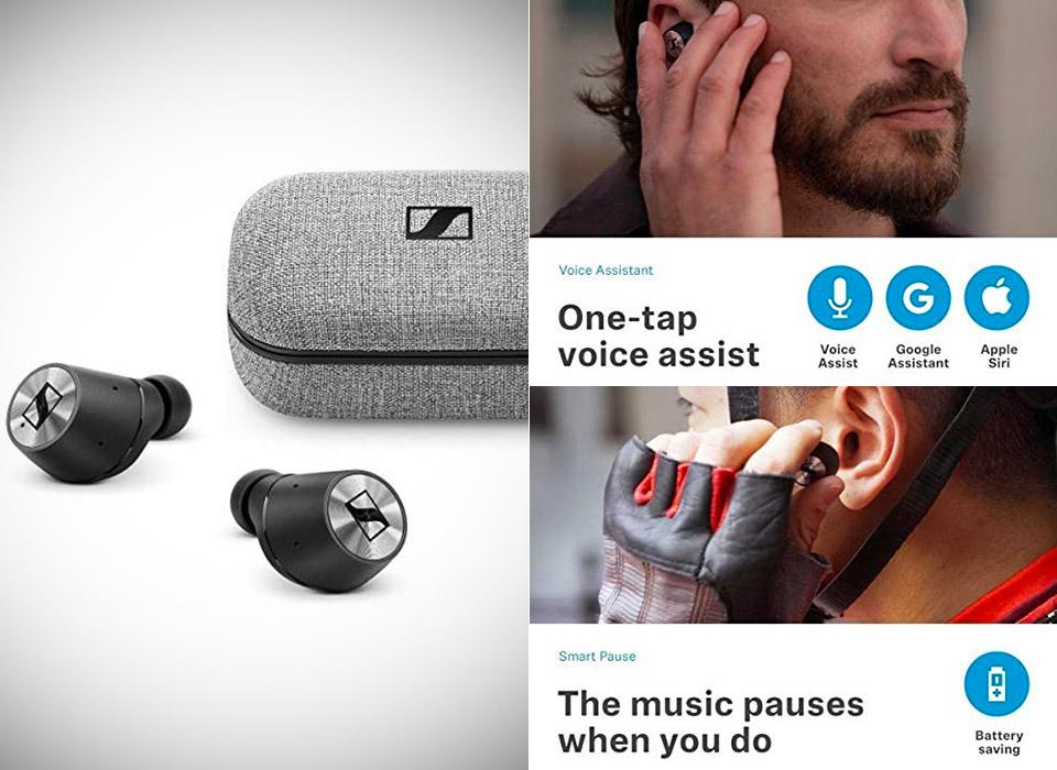 Sennheiser Momentum True Wireless Earbuds Fingertip Touch Control