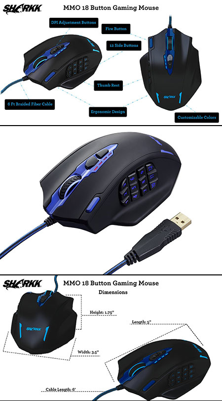 SHARKK Gaming Mouse