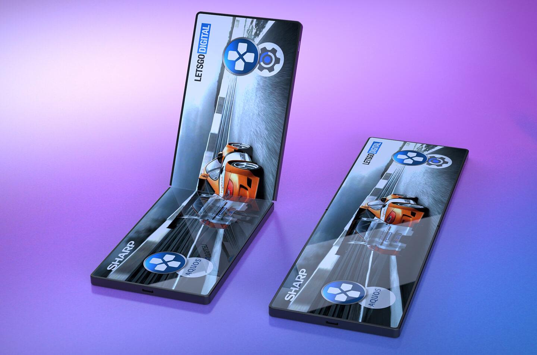 Sharp Folding Smartphone Display